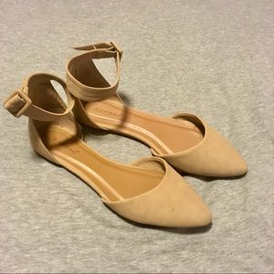 Charlotte Russe Nude Ballet Flats Size 7.5